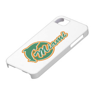 Miami with Dolphin iPhone 5 Cover