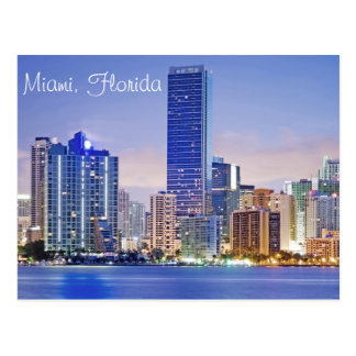 Miami's Brickell Avenue skyline Postcard