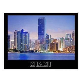 Miami's Brickell Avenue skyline Postcard