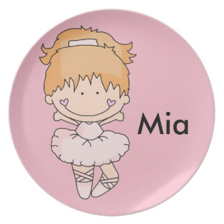 Mia's Personalized Ballet Plate