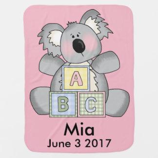 Mia's Personalized Koala Baby Blanket
