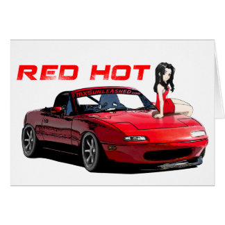 Miata MX-5 Red Hot Card