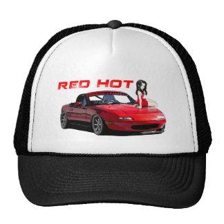 Miata MX-5 Red Hot Trucker Hats