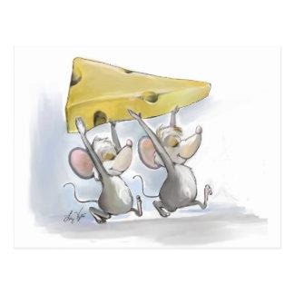 Mic & Mac Bringing In The Cheese Postcard