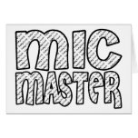 Mic Master Funky Fresh Greeting Cards