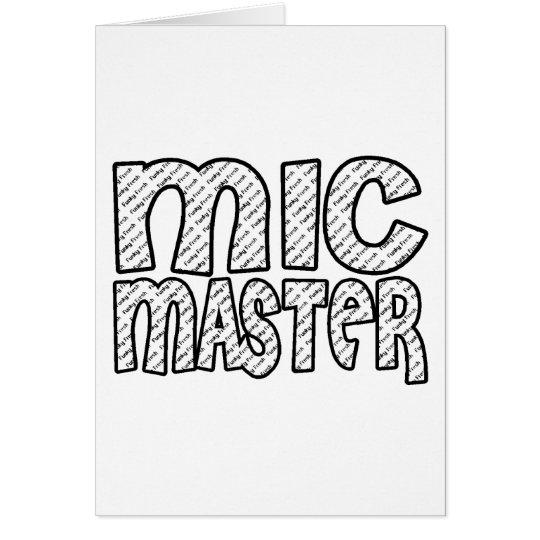 Mic Master Greeting Card