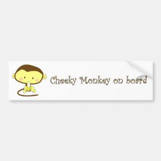 Mica, Cheeky Monkey on board Bumper Sticker