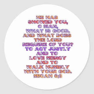 Micah 6:8 stickers