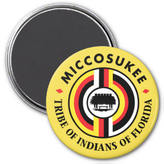 Miccosukee Tribe 7.5 Cm Round Magnet