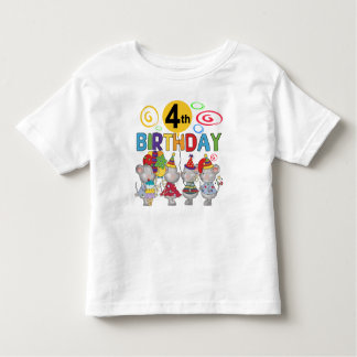 Mice 4th Birthday T-shirts and Gifts