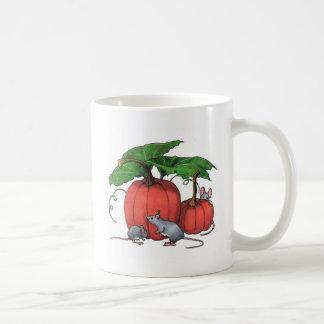 Mice And Pumpkins: Cute Autumn Scene: Art Coffee Mug