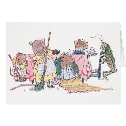 Mice Cleaning, Sweeping, etc. Greeting Card