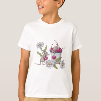 Mice Gathering Cherries, With Daisies T-Shirt