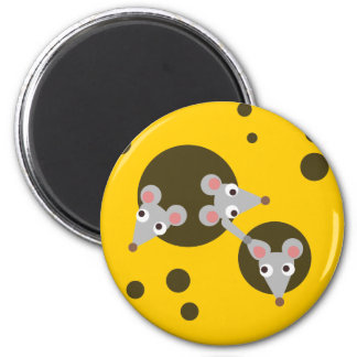 Mice in cheese magnet
