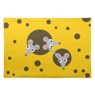 Mice in cheese placemat