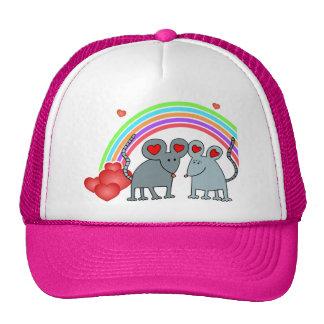 Mice in Love Valentines Mesh Hat