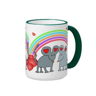 Mice in Love Valentines Coffee Mug