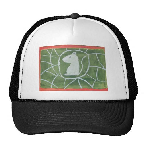 "Mice in Spiderweb by Artist ""S.B. Eazle"" Mesh Hats"