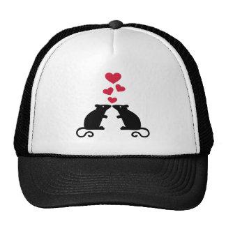 Mice mouse hearts love trucker hats