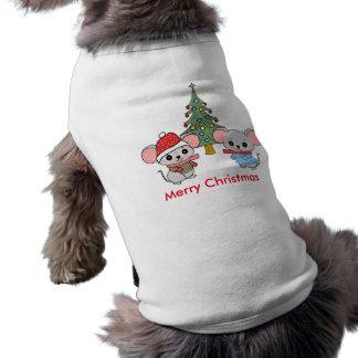 mice of Christmas Sleeveless Dog Shirt