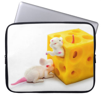 Mice on Cheese Funny Toys Laptop Sleeve