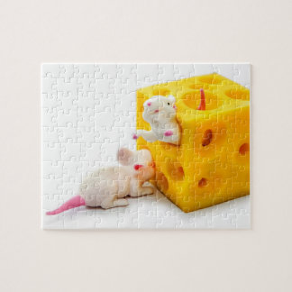 Mice on Cheese Funny Toys Puzzle