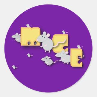 Mice! Round Sticker