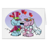 Mice wedding couple greeting card