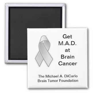 Michael A. DiCarlo Brain Tumor Foundation Square Magnet