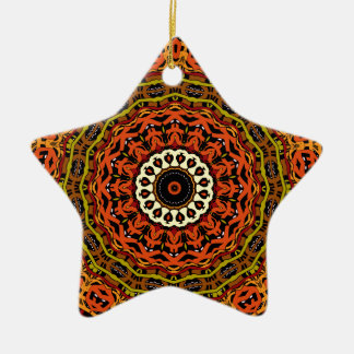 Michael Fall Colors Kaleidoscope No 3 Star Ornaments