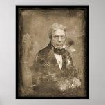 Michael Faraday Daguerreotype 1845 Print
