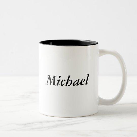 Michael name Two-Tone coffee mug