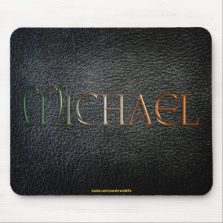 MICHAEL Personalised Leather-look Mousepad