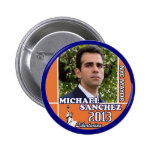 Michael Sanchez fot NYC Mayor 2013 Pinback Button