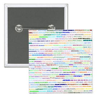 Michael Text Design II Square Button