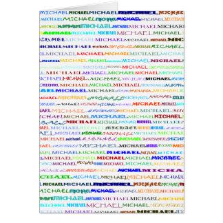 Michael Text Design II Vertical Greeting Card