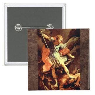 Michael the Archangel 15 Cm Square Badge