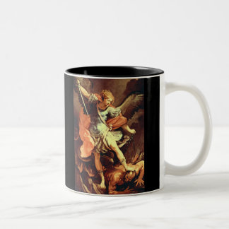 Michael the Archangel Defeats the Devil Two-Tone Mug