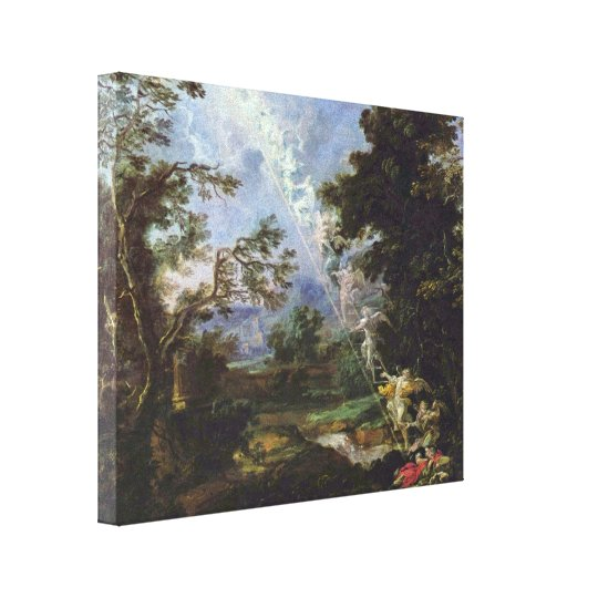 Michael Willmann - The Dream of Jacob Canvas Print