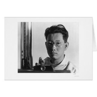Michael Yonemitsu X-ray Technician 1943 Greeting Card