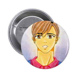 Michael Yoon Button-Me 6 Cm Round Badge