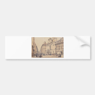 Michaelerplatz and carbon market in Vienna by Rudo Bumper Sticker