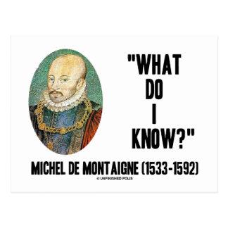 Michel de Montaigne What Do I Know? Quote Postcards