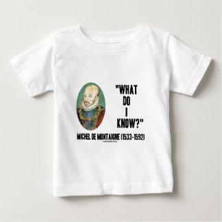 Michel de Montaigne What Do I Know? Quote T-shirts