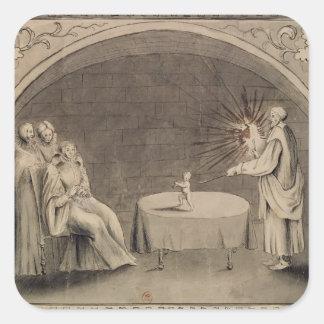 Michel de Nostradame  and Catherine Square Sticker