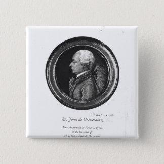 Michel-Guillaume-Jean de Crevecoeur 15 Cm Square Badge