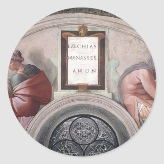 Michelangelo: Ancestors of Christ: Manasseh, Amon Sticker