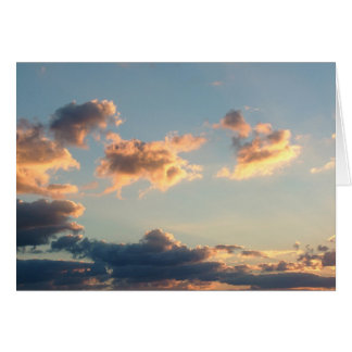 Michelangelo clouds. greeting card