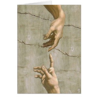Michelangelo Creation of Adam Card