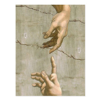 Michelangelo Creation of Adam Postcard